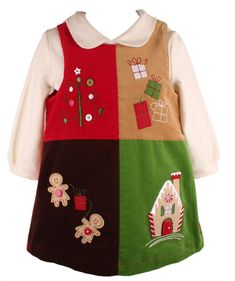 christmas dress for toddlers girls | Kids Holiday Jumper Dress-Treasure Box Kids