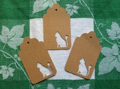 Die Cut Sitting Cat Tag by NatureCuts on Etsy