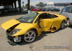 Lamborghini Murcielago crashed