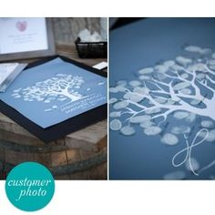 winter fingerprint guest book tree - printable file  Ask guests to leave their fingerprint and sign your personalised guest book tree - a beautiful piece of art to display for years to come. Instead of a traditional book, guests leave a fingerprint to act as a leaf on your tree, just have ink pads available on the day.  Perfect for weddings, baby showers, christenings and anniversaries. The background used here is mystic.  More info    PRICE  $20.00