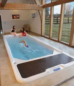 Swim spas and exercise pools: modern by hot tub barn, modern Indoor Pools, Small Indoor Pool, Small Swimming Pools, Swimming Pools Backyard, Swimming Pool Designs, Lap Pools, Small Pools, Pool Decks, Pool Landscaping