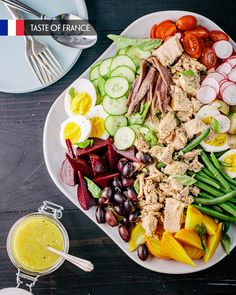 Salade Niçoise Summer Recipes, Summer Ideas, Nicoise Salad, Red Beets, Fresh Basil, Serving Platters, Cherry Tomatoes, Green Beans