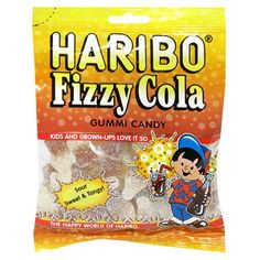 Haribo Gummi Candy, Fizzy Cola, 5-Ounce Bags (Pack of 12) (bestseller)