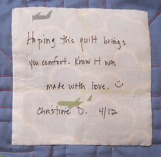 Making Quilt Labeling Easier – Late Night Quilter | quilts ... : baby quilt label sayings - Adamdwight.com