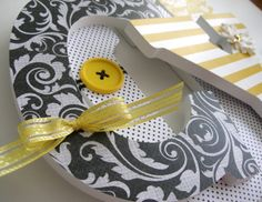 cute letters for black and yellow bedroom :]