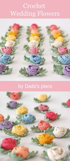 Crochet Projects 46 Ideas crochet flowers easy small stitches for 2019 Crochet Small Flower, Unique Crochet, Crochet Flower Patterns, Love Crochet, Beautiful Crochet, Crochet Flowers, Knitting Patterns, Crochet Doilies, Small Crochet Gifts
