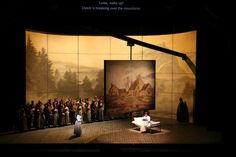 Luisa Miller. San Francisco Opera. Scenic design by Michael Yeargan. Lighting by Gary Marder.