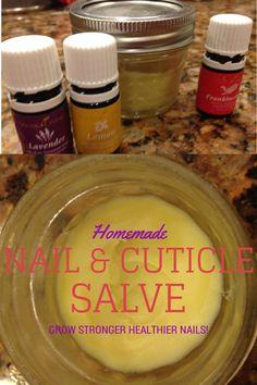 Homemade Nail & Cuticle Salve  http://2momsnaturalskincare.com/  #DIY #Essentialoils
