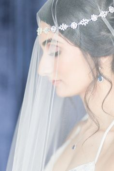 Bride in Elegant David's Bridal Veil and Accessories   photography by https://www.cassiclaire.com/