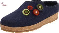 Haflinger Kanon 731023, Chaussons femme - Bleu-TR-F4-117, 39 EU - Chaussures haflinger (*Partner-Link)