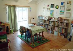 taying Organized: this fam uses Sonlight and she had some great organizational ideas. Such as give each child a book bin for the years books.