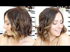 How To: Curl Hair With A Straightener & Curling Wand! - YouTube