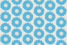 Daisy-blue and big fabric by miamaria on Spoonflower - custom fabric Custom Fabric, Spoonflower, Kids Room, Daisy, Gift Wrapping, Wallpaper, Big, Prints, Flowers