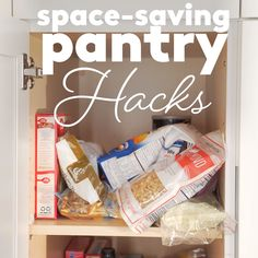 Pantry Organizing Hacks | Feel like your pantry could use a good spring cleaning?  Here's how to revamp any food storage space, big or small.  #pantryorganization #organization #organizingtips #realsimple