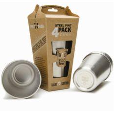 pack de vasos reutilizables de acero
