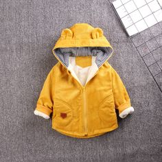 winter new boys and velvet jackets thickened autumn and winter clothing infant Baby Boy Outfits, Kids Outfits, Baby Coat, Velvet Jacket, Kids Store, Cotton Pads, Padded Jacket, Gym Wear, Nike Jacket
