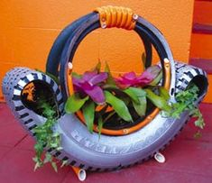 Tire planter...another fabulous recycle idea for planters!!!