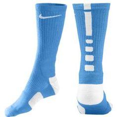 Nike Elite Basketball Crew Sock - Men's - Basketball - Accessories - University Blue/White