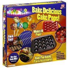 As Seen on TV Bake Pops Baking Pan and Accessories