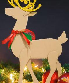 Outdoor Christmas Tree Decorations, Reindeer Decorations, Christmas Tree Themes, Christmas Design, Christmas Photos, Christmas Art, Dollar Tree Christmas, Christmas Ornament Crafts, Nutcracker Christmas