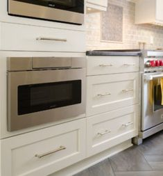Modern Kitchen Remodel With Elmwood Cabinets And Wolf Duel Range with regard to sizing 1673 X 1800 Sharp Microwave Drawer 30 Stainless - There are certain Sharp Microwave Drawer, Microwave Cabinet, Microwave In Kitchen, Shabby Chic 3 Drawer Dresser, Cheap Couch, Modern Drawers, Shelf Design, Black Kitchens, Cool House Designs