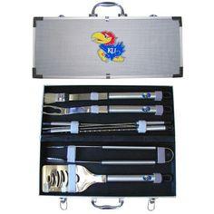 Kansas Jayhawks NCAA 8pc BBQ Tools Set