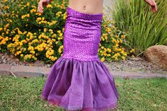 DIY Little Mermaid Skirt - Ariel Halloween Costume