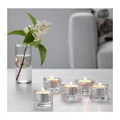 Square tea light holder for table centerpiece.