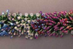 """The design for """"Monet's Garden Bracelet"""" is by Kathleen Lynam and was featured in the April/May 2006 issue of Beadwork on pages 68-69. I know Beadwork Magazine sells Projects, back issues of the magazine, and DVD's of earlier issues. Beadwork 2006"""