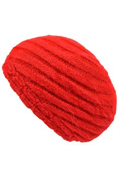 Braid Knit Angora Slouchy Beanie Cap Hat