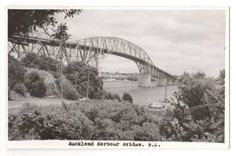 Real Photograph by N S Seaward of Auckland Harbour Bridge. - 45595 - Postcard - Postcards Auckland - Postcards New Zealand - Postcards By Country - EASTAMPS Auckland New Zealand, Postcards, Bridge, Photograph, Country, Photography, Rural Area, Bridges, Fotografia
