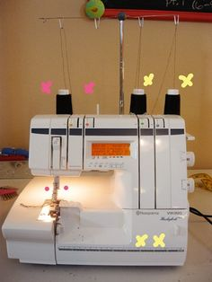 Serger 101 and how to hem knits - tips for the serger that I may one day own