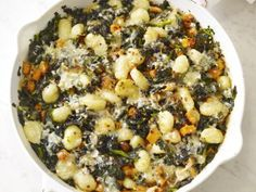 Gnocchi With Squash and Kale - I think adding sausage to this would make a great main dish casserole (but the vegetarian version still sounds yummy)