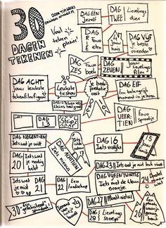 30 dagen tekenen. korte tekenopdrachten voor kinderen die graag tussendoor tekenen, maar niet zoveel ideeën hebben.