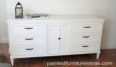 White painted dresser or buffet