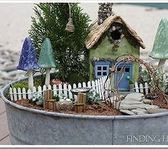 Just grab your ember bucket and your fairy garden idea will be comes true