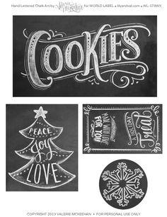 Chalk lettering   Chalk / Tiza