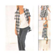 McCall's 8178 Uncut Sewing Pattern Misses Dress Jacket Pants Shorts 20 22 24