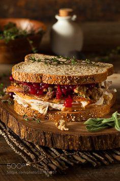 Pic: Homemade Leftover Thanksgiving Sandwich