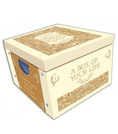 Cream A Box Of Your Life Memories & Keepsake Large Collapsible Storage Box - Storage Boxes - Stationery Decorative Storage Boxes, Wimpy Kid, Stationery, Memories, Cream, Life, Stationeries, Stationery Shop, Souvenirs