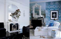 Big #mirror over #fireplace. #decor