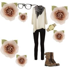 Perfect study outfit - clearly I forgot to get dressed up for it! College Style, College Fashion, College Life, Hipster Outfits, Cute Fall Outfits, New Outfits, Cute Fashion, Fashion Beauty, Autumn Fashion