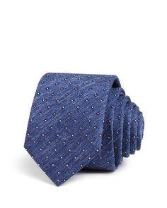 Hugo Melange & Square Print Skinny Tie