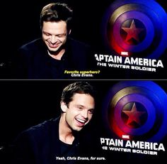 The fact that he called Chris Evans a superhero gets to me :)