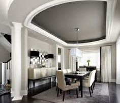 Dark Grey Ceiling to emphasis the ceilings Design Features