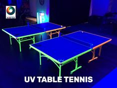 UV Table Tennis Table/Ping Pong Hire with UV light effects. Creating Glow Table Tennis set up at your venue for your event. Office Christmas Party, Christmas Party Themes, Christmas Events, Glow Table, Table Tennis Set, Tennis Party, Party Entertainment, Ping Pong Table, Surrey