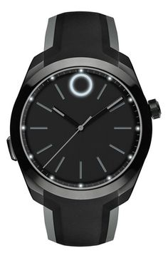 Movado Silicone Strap Smart Watch, 43mm available at #Nordstrom