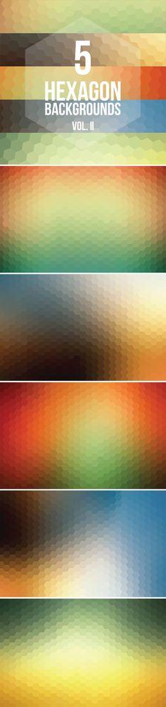 5 Free Hexagon Backgrounds Vol. II