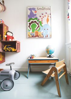 Vintage Inspired Office #kids