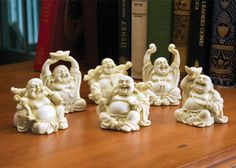 Six Little Budhhas ... my kind of party!!! Don't they look like they're really having a good time?!